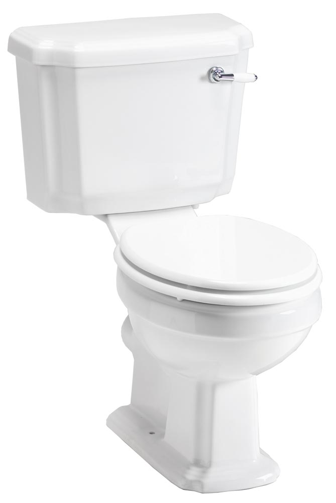 QX CLASSIC NOUVEAU WC CLOSE COUPLED PAN / CISTERN & SOFT CLOSE SEAT