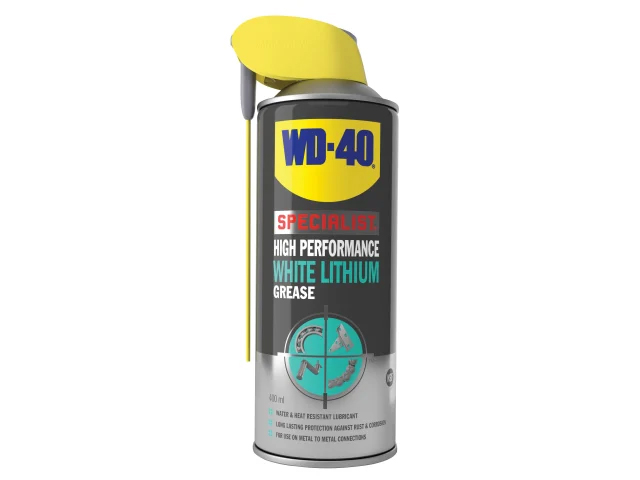 WD-40 Specialist Whte Lithium Grease Smart Straw 400ml - 44391