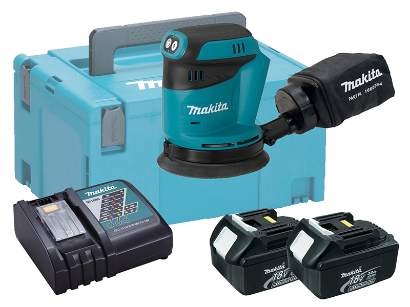"MAKITA 18V RANDOM ORBIT SANDER 5"" - DBO180 - 3.0AH PACK"