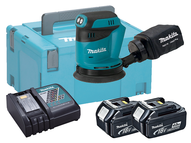 "MAKITA 18V RANDOM ORBIT SANDER 5"" - DBO180 - 4.0AH PACK"