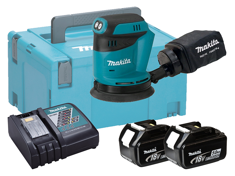 "MAKITA 18V RANDOM ORBIT SANDER 5"" - DBO180 - 5.0AH PACK"
