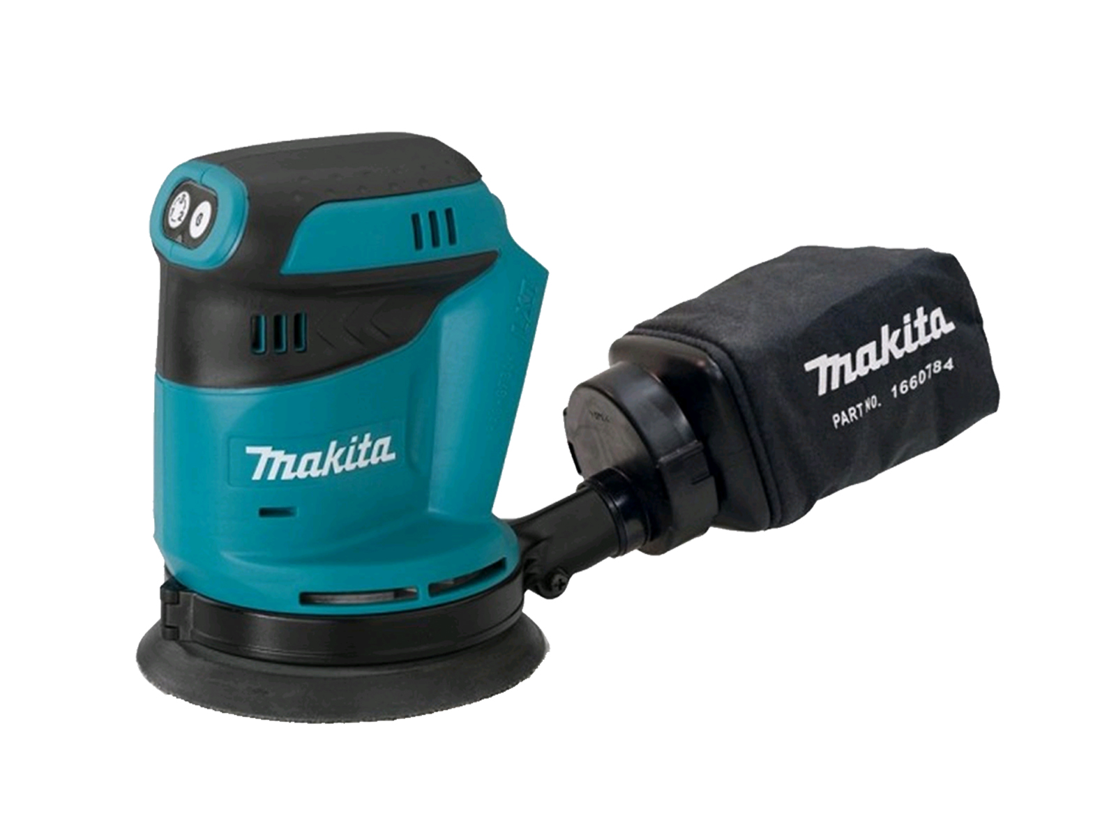 "MAKITA 18V RANDOM ORBIT SANDER 5"" - DBO180 - BODY ONLY"