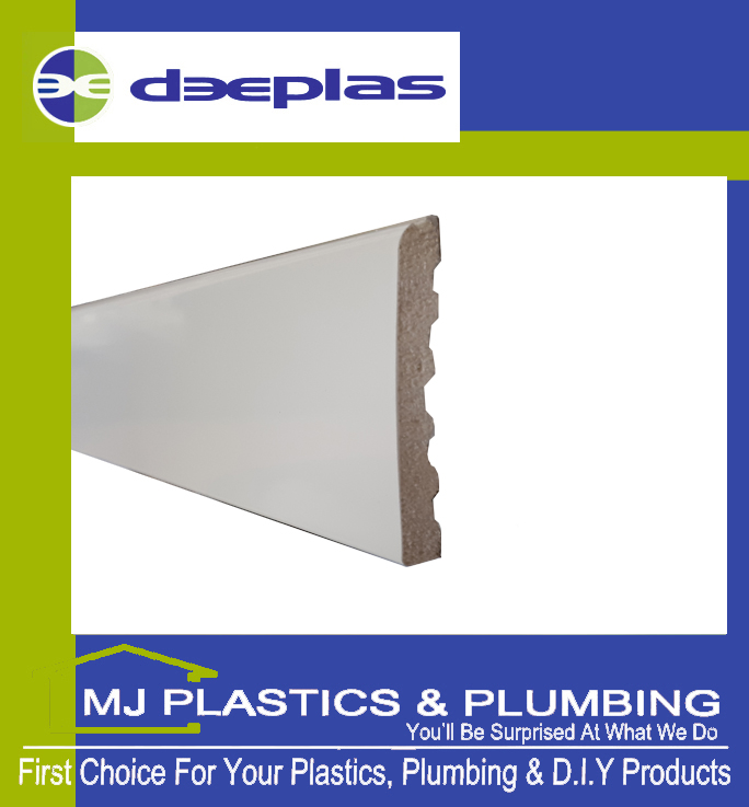 DEEPLAS 60MM X 6MM ARCHITRAVE - TRAFFIC WHITE