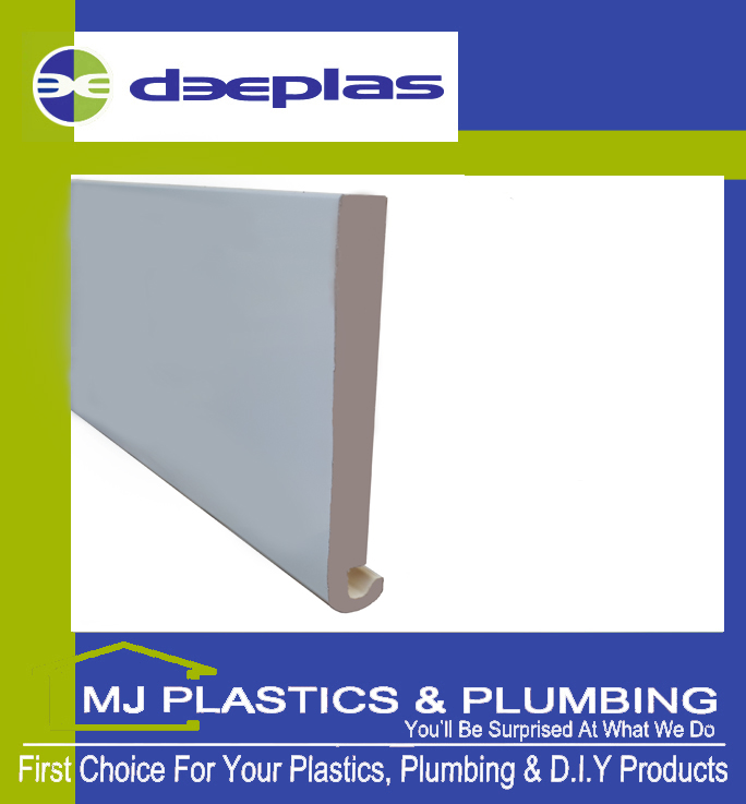 DEEPLAS 150MM BULLNOSE HEAVY DUTY FASCIA BOARD WHITE 0003