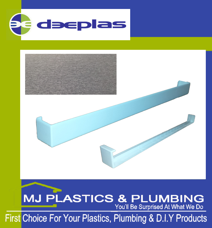 FASCIA JOINT DOUBLE ENDED SQUARE EDGE 500MM AGATE GREY