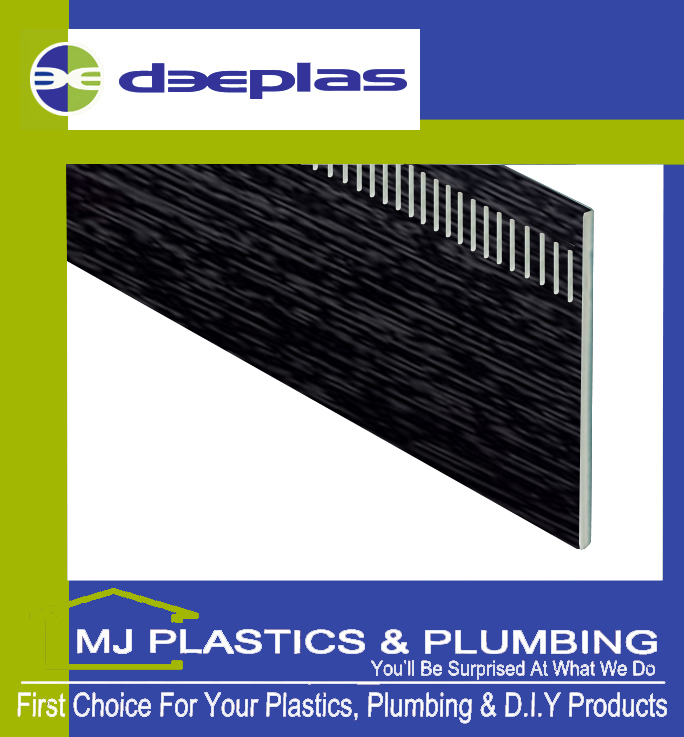 DEEPLAS 250MM VENTED FLAT PLANK UNIBOARD ANTHRACITE GREY