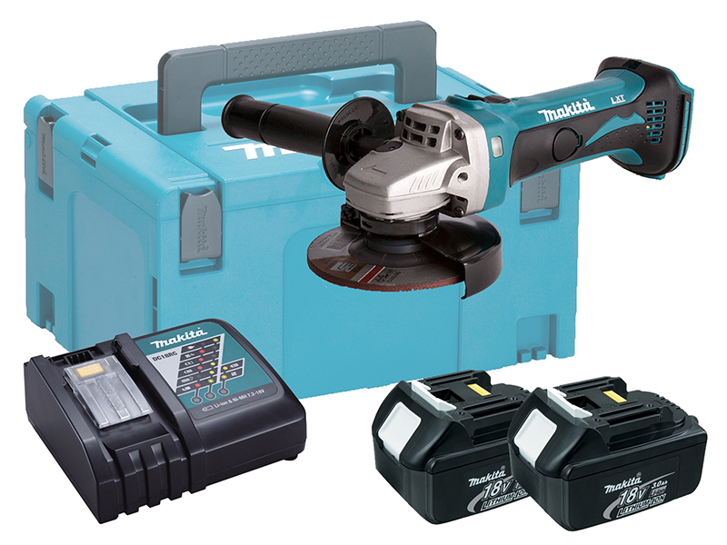 MAKITA 18V BRUSHED 115MM ANGLE GRINDER LXT - 3.0AH PACK