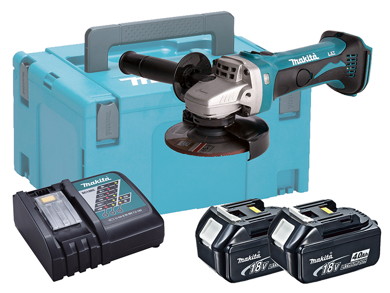 MAKITA 18V BRUSHED 115MM ANGLE GRINDER LXT - 4.0AH PACK