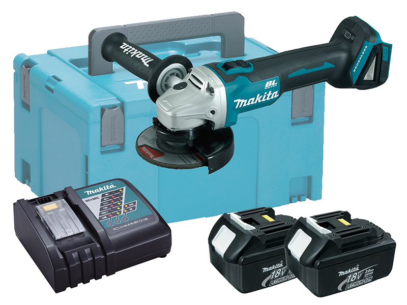 MAKITA 18V BRUSHLESS ANGLE GRINDER 115MM LXT - DGA456 - 3.0AH PACK