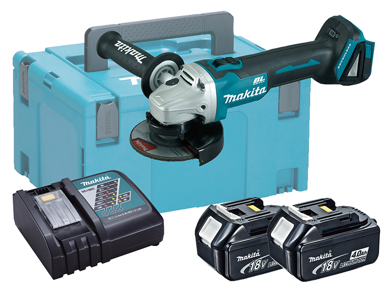 MAKITA 18V BRUSHLESS ANGLE GRINDER 115MM LXT - DGA456 - 4.0AH PACK