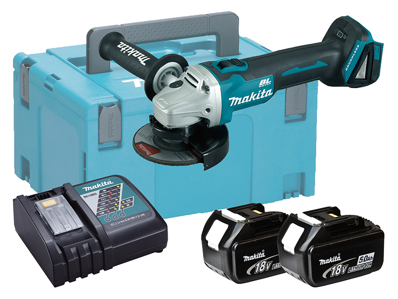 MAKITA 18V BRUSHLESS ANGLE GRINDER 115MM LXT - DGA456 - 5.0AH PACK