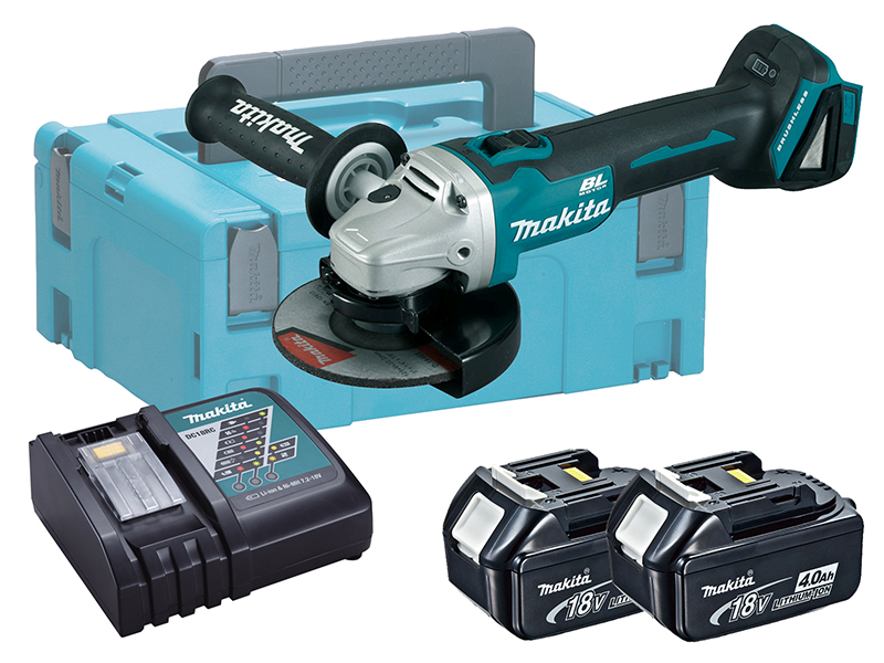 Makita DGA513 18V Brushless 125mm Angle Grinder LXT - 4.0Ah Pack