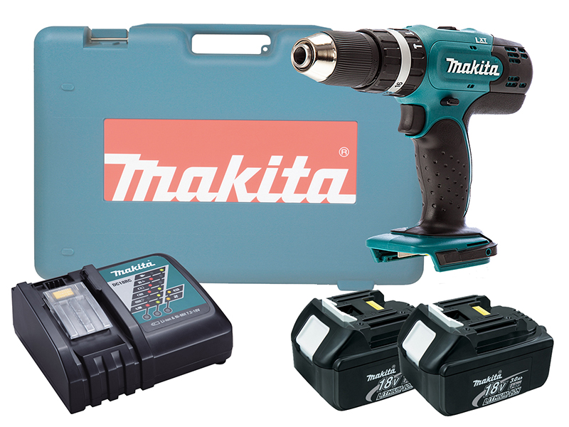 MAKITA 18V BRUSHED COMBI DRILL LXT - DHP453 - 3.0AH PACK