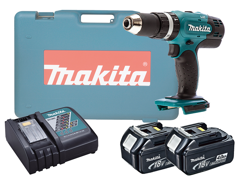 MAKITA 18V BRUSHED COMBI DRILL LXT - DHP453 - 4.0AH PACK