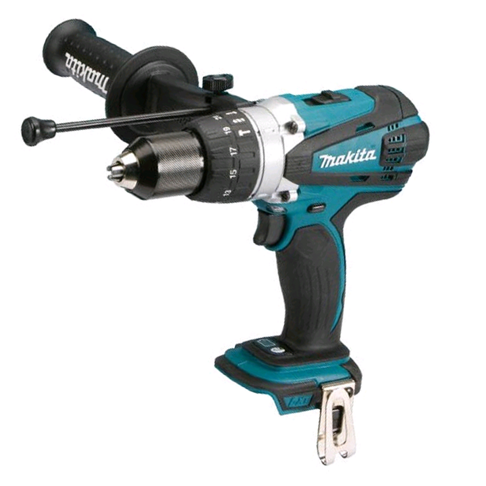 MAKITA 18V BRUSHED HEAVY-DUTY COMBI DRILL LXT - DHP458 - BODY ONLY
