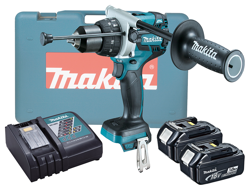 MAKITA 18V BRUSHLESS HEAVY-DUTY COMBI DRILL LXT - DHP481 - 3.0AH PACK
