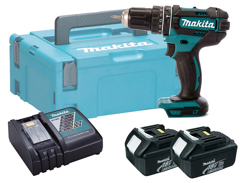 MAKITA 18V COMPACT BRUSHED COMBI DRILL - DHP482 - 3.0AH PACK