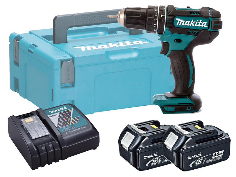 MAKITA 18V COMPACT BRUSHED COMBI DRILL - DHP482 - 4.0AH PACK