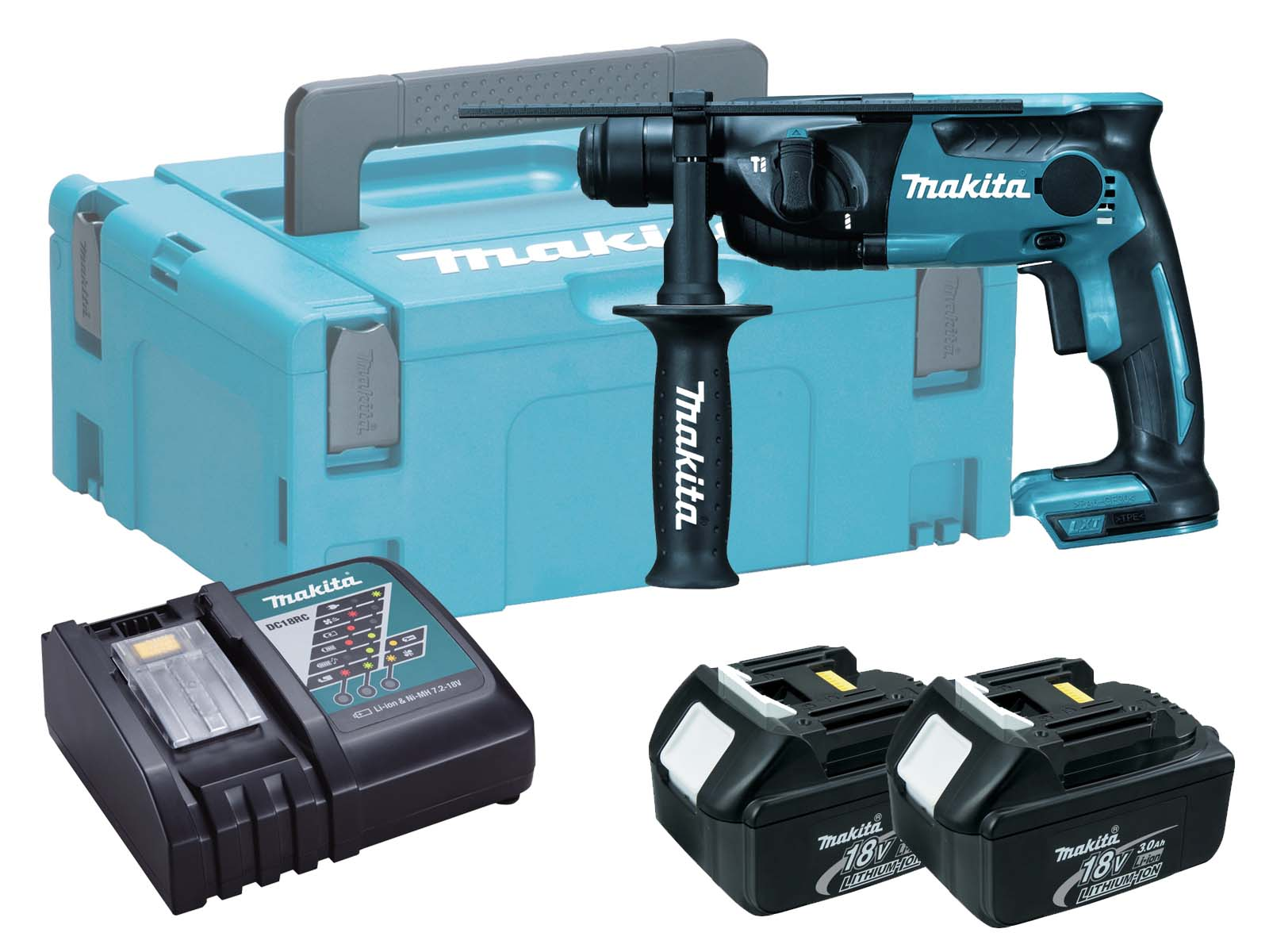 Makita 18V Brushed 2-Mode SDS Hammer Drill - DHR165 - 3.0Ah Pack