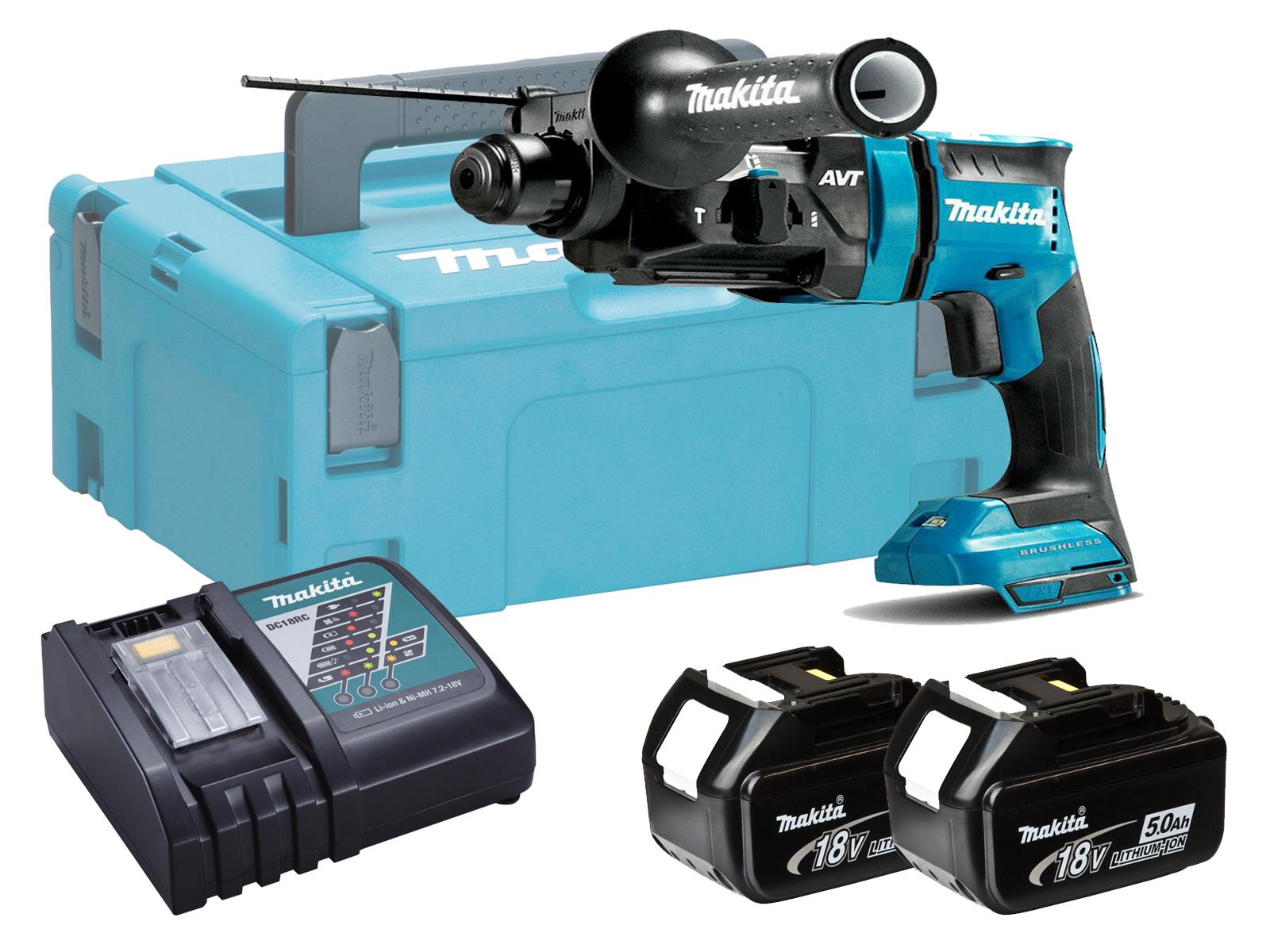 Makita 18V Brushless 3-Mode SDS+ Hammer Drill - DHR182 - 5.0Ah Pack