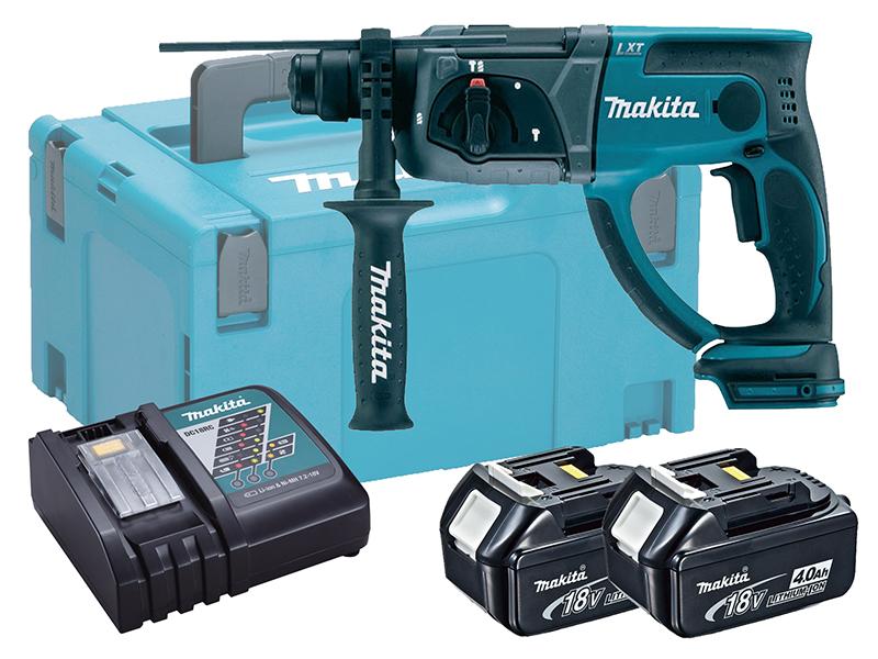 Makita 18V Brushed 3-Mode SDS Hammer Drill - DHR202 - 4.0Ah Pack