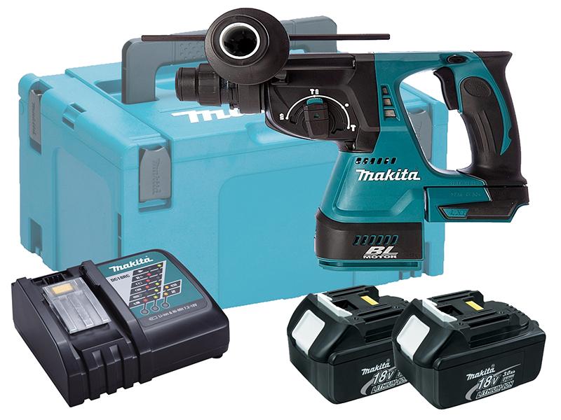 Makita 18V Brushless 3-Mode SDS+ Hammer Drill - DHR242 - 3.0Ah Pack