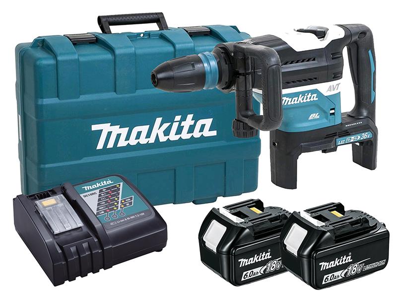 MAKITA 18V TWIN BRUSHLESS SDS MAX HAMMER - AWS - DHR400ZKU - 6.0AH PACK