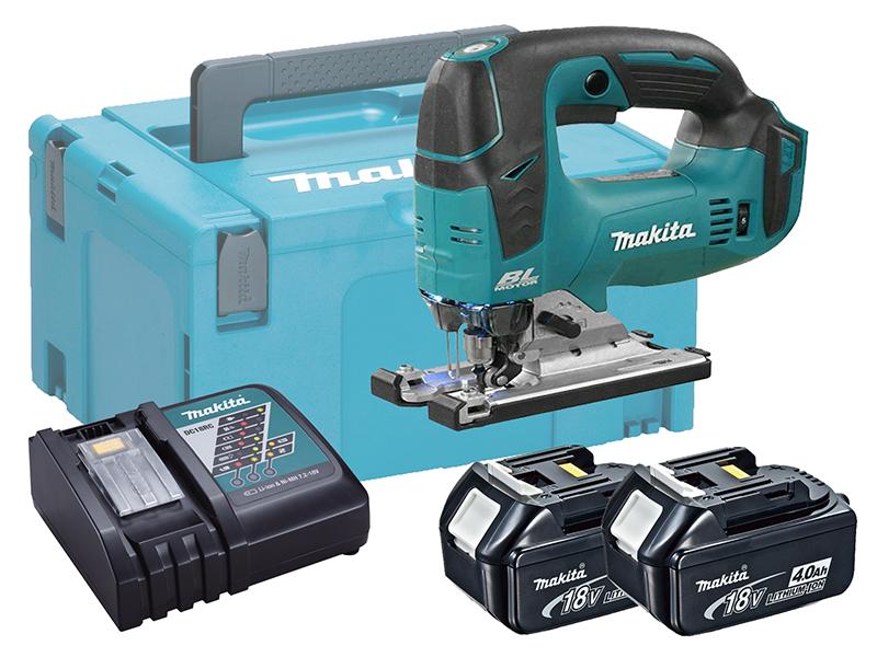 Makita DJV182 18V Cordless Brushless Jigsaw Top Handle - 4.0ah Pack
