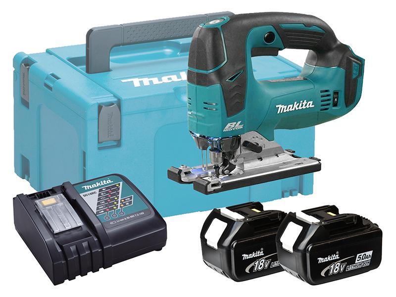 Makita DJV182 18V Cordless Brushless Jigsaw Top Handle - 5.0ah Pack