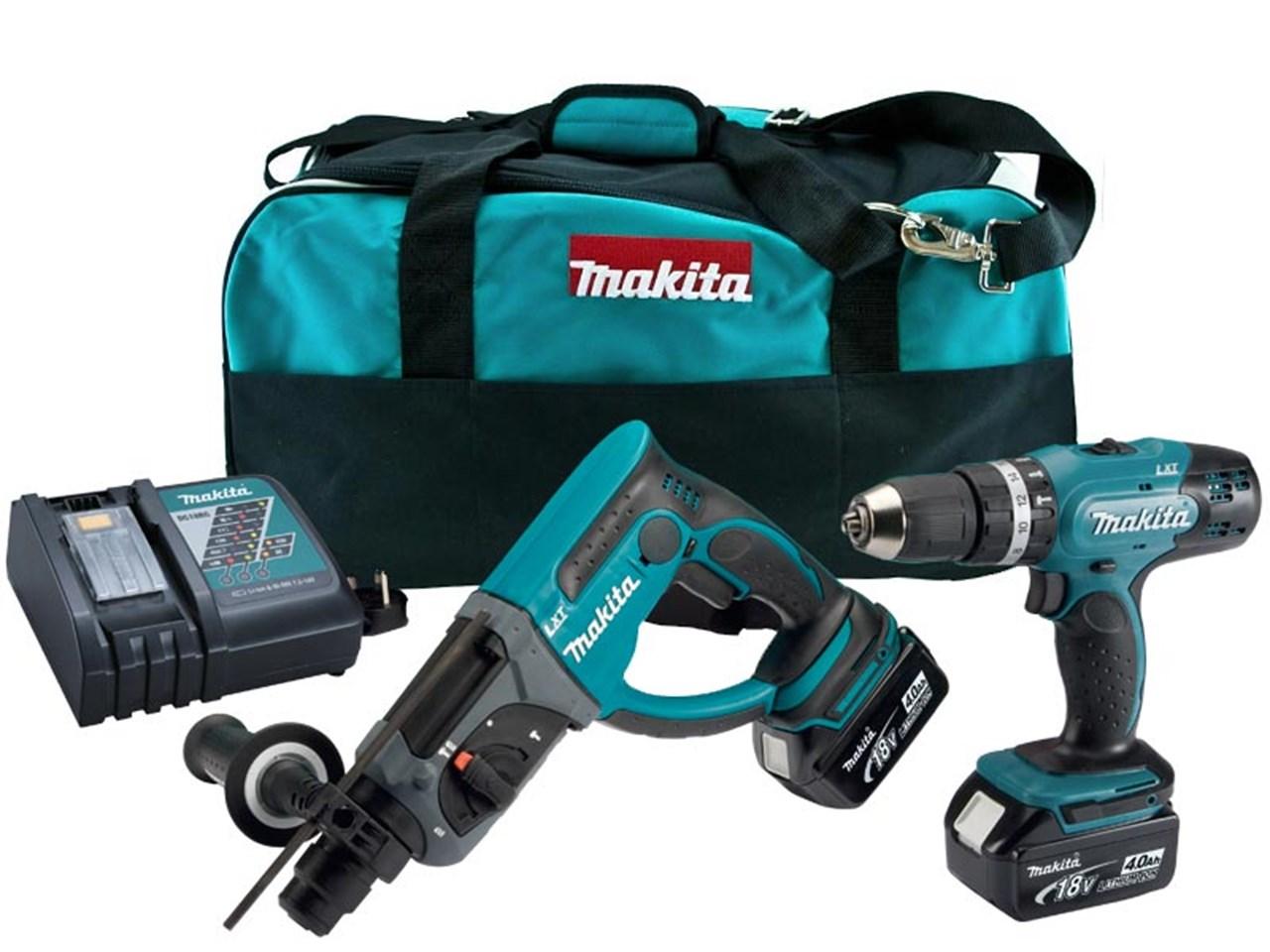 Makita 18V SDS 2-Mode Hammer Drill & Combi Drill - DLX2025M - 4.0Ah Pack