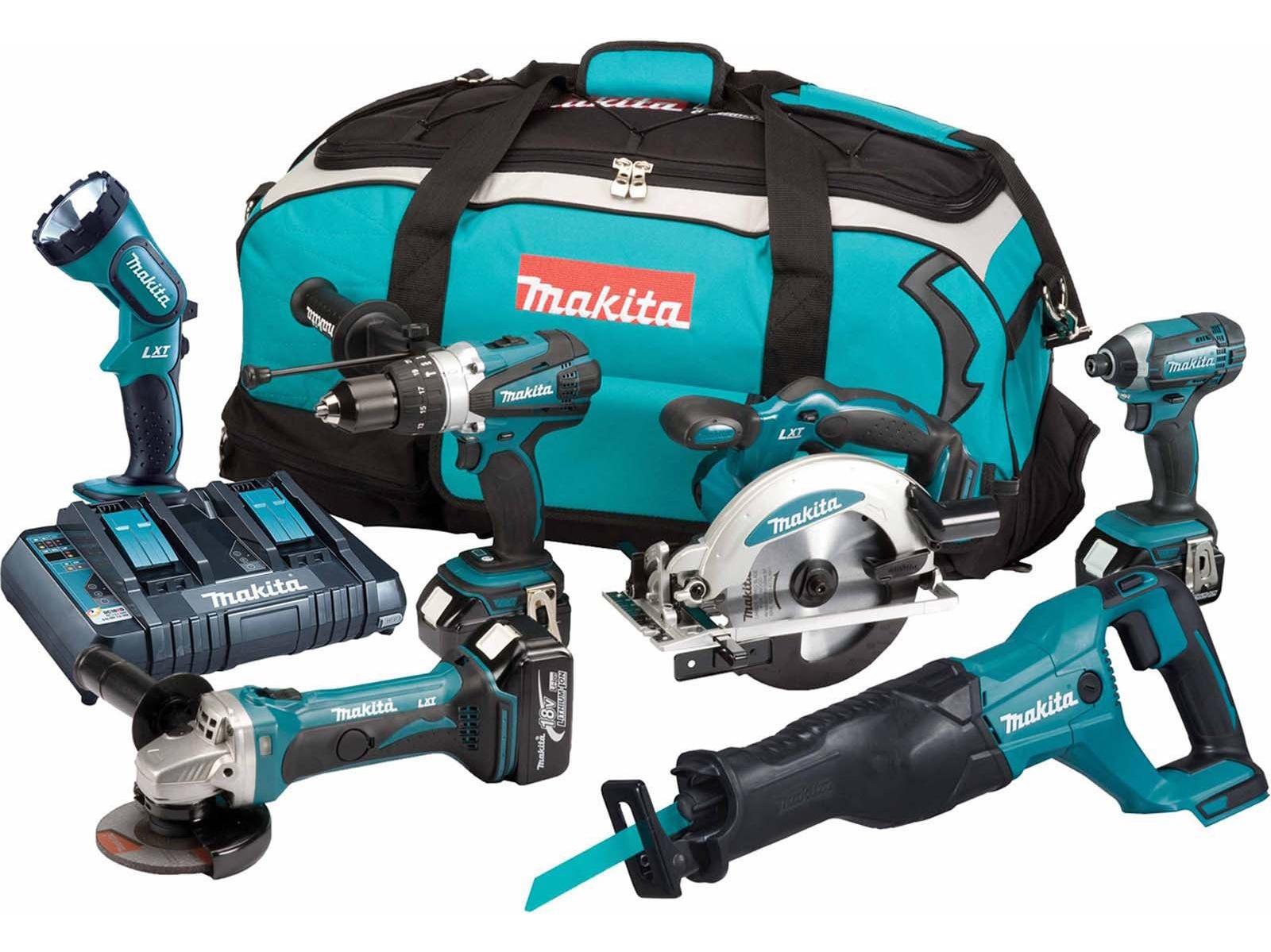 Makita 18V 6 Piece LXT Kit - Combi / Impact & More - DLX6072PT - 5.0Ah Pack