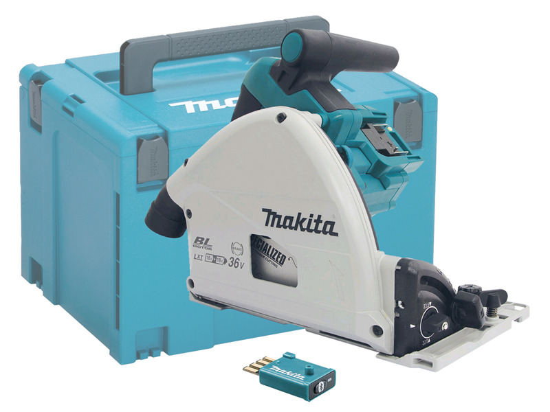 Makita DSP601 36V (18V Twin) 165mm Brushless AVS Plunge Cut Saw LXT - Body Only