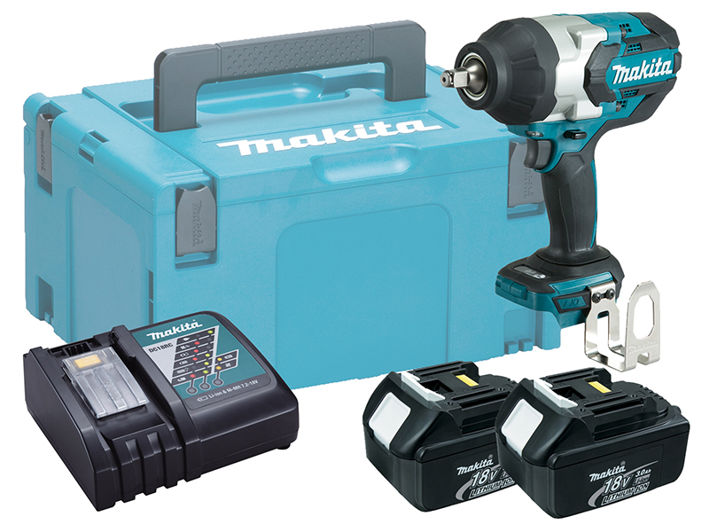 """MAKITA 18V 1/2"""" BRUSHLESS HEAVY-DUTY IMPACT WRENCH - DTW1002 - 3.0AH PACK"""