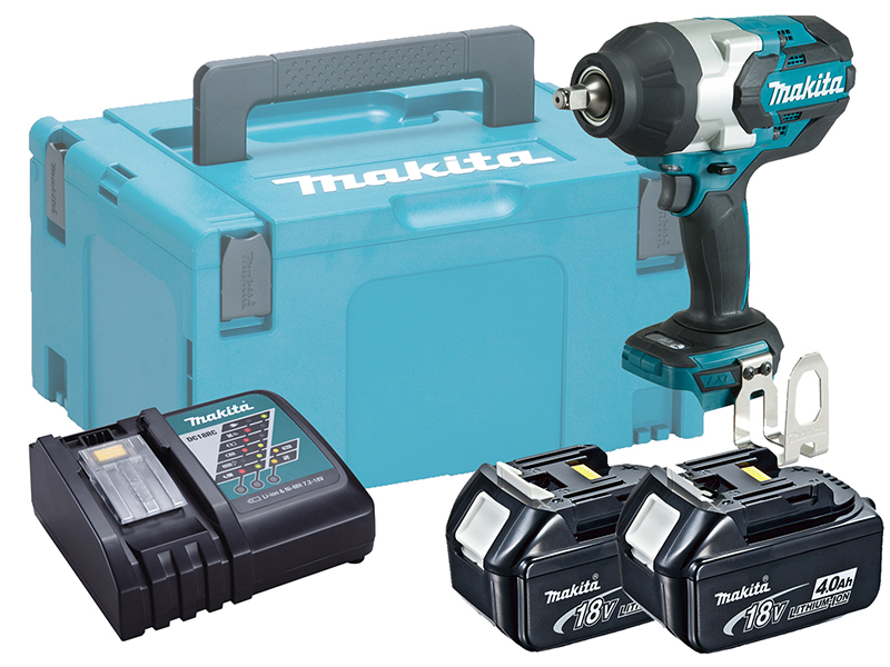 """MAKITA 18V 1/2"""" BRUSHLESS HEAVY-DUTY IMPACT WRENCH - DTW1002 - 4.0AH PACK"""