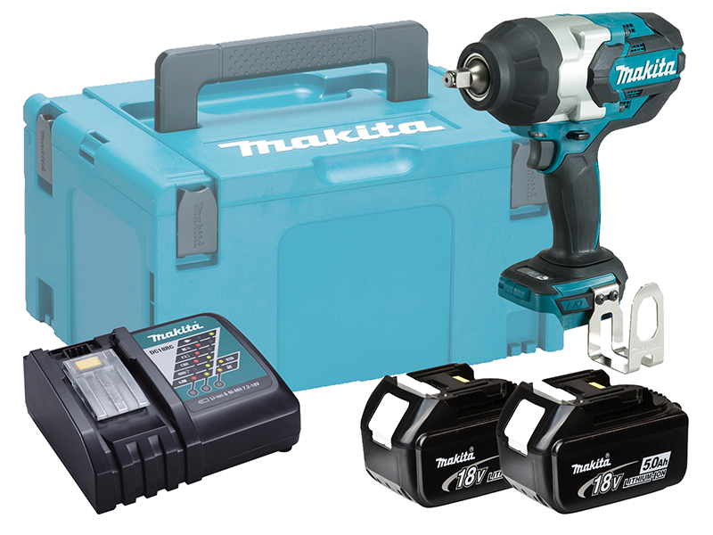 """MAKITA 18V 1/2"""" BRUSHLESS HEAVY-DUTY IMPACT WRENCH - DTW1002 - 5.0AH PACK"""