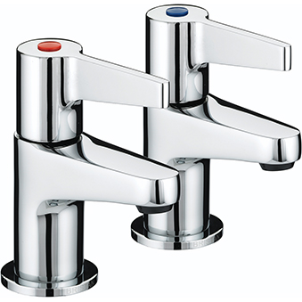 BRISTAN DESIGN UTILITY LEVER BASIN TAPS CHROME PLATED