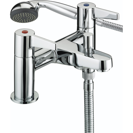 BRISTAN DESIGN UTILITY LEVER BATH SHOWER MIXER CHROME PLATED