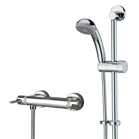 BRISTAN DESIGN UTILITY THERMOSTATIC BAR SHOWER WITH ADJ RISER - DUL2 SHXARFF C