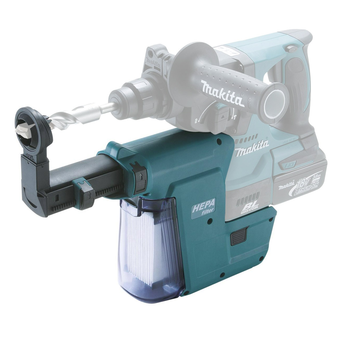 MAKITA DUST EXTRACTOR ADDON FOR SDS HAMMERS - DHR242 & BHR242 - DX01