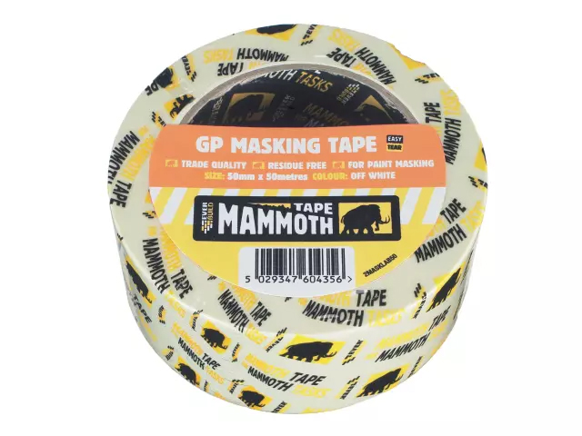EVERBUILD MAMMOTH MASKING TAPE 19MM 50M - 2MASKLAB19