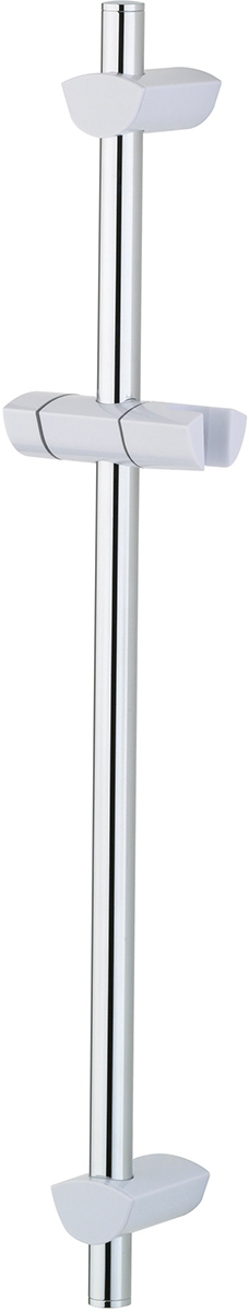 BRISTAN EVO RISER RAIL WITH ADJ FIXING BRACKETS 660MM WHITE / CHROME - EVC ADR01 WX