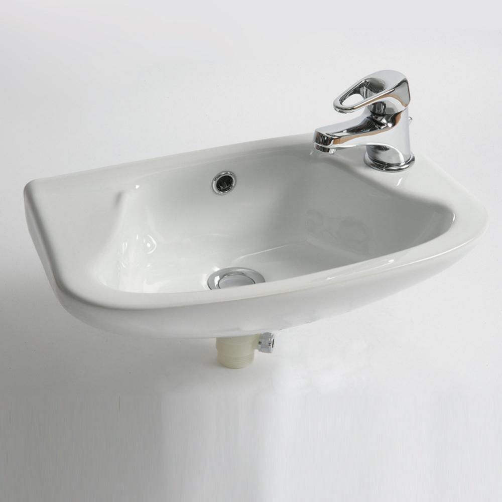 QX EBONY 355MM X 255MM CLOAKROOM BASIN - (2TH)