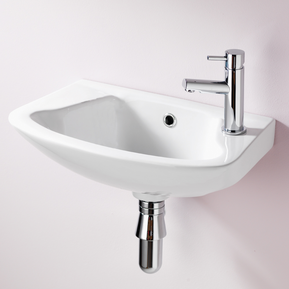 QX EBONY 465MM X 280MM CLOAKROOM BASIN - (2TH)