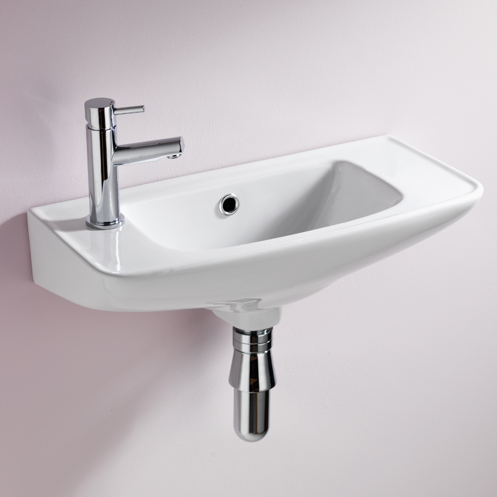 QX EBONY 510MM X 230MM CLOAKROOM BASIN - (2TH)