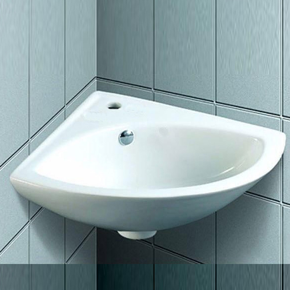 QX EBONY 365MM X 365MM CORNER BASIN - (1TH)