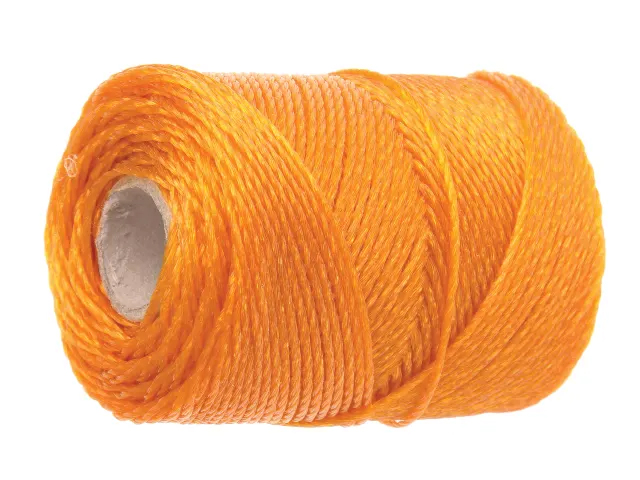 FAITHFULL HEAVY-DUTY ORANGE POLY BRICK LINE 250M
