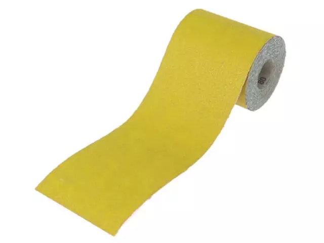Faithfull Aluminium Oxide Sanding Paper Roll Yellow 115mm 60 Grit