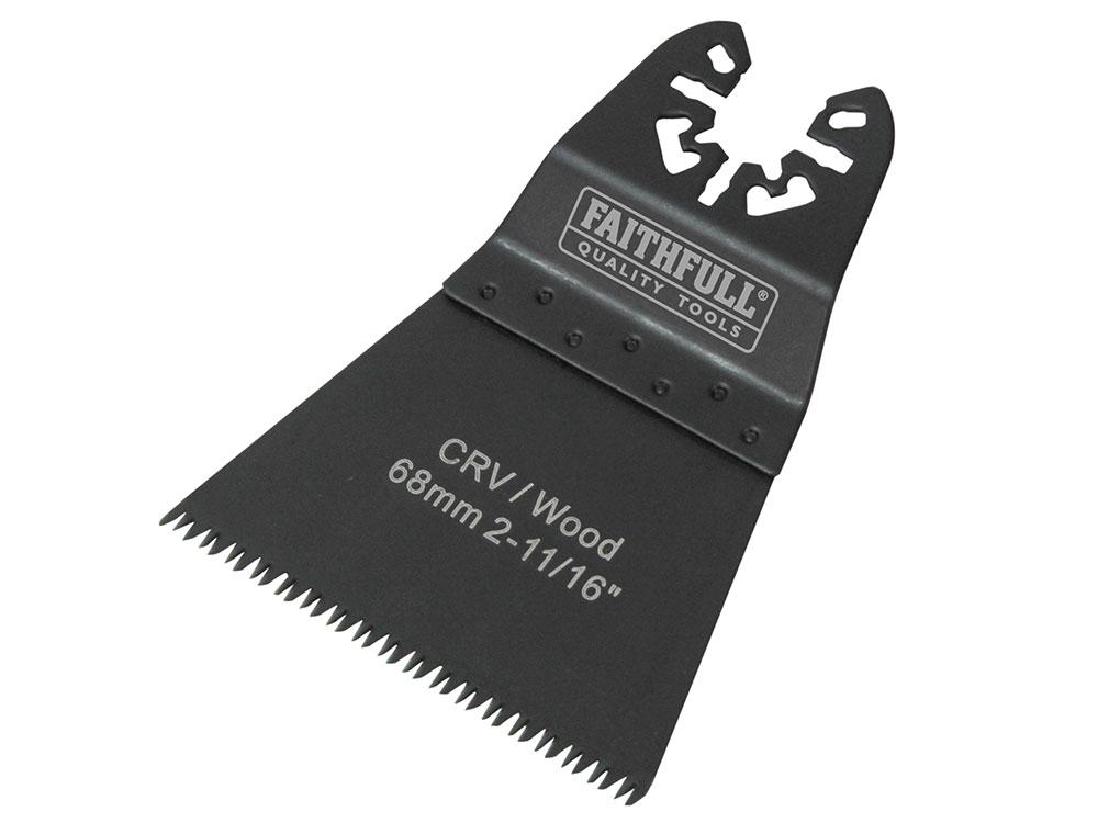 Faithfull Multi-Functional Tool Flush Wood Blades Ground Set 68mm (Pack of 5)