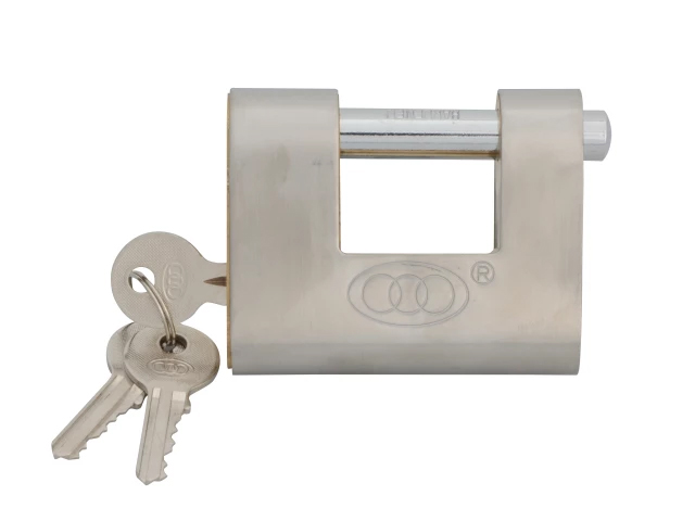 FAITHFULL BRASS SHUTTER PADLOCK 80MM