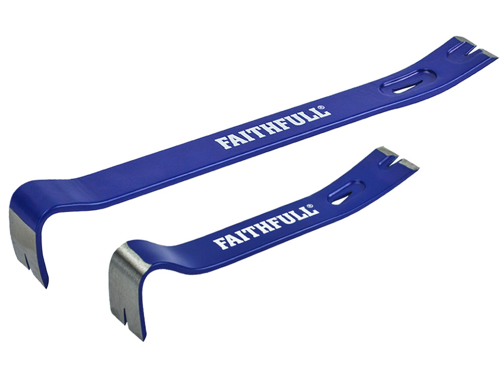 Faithfull Utility Bar Twin Pack - 375mm (15in) & 175mm (7in)